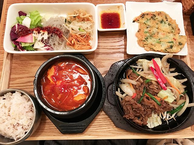 ボリューム満点!韓美膳のランチは食べごたえアリ