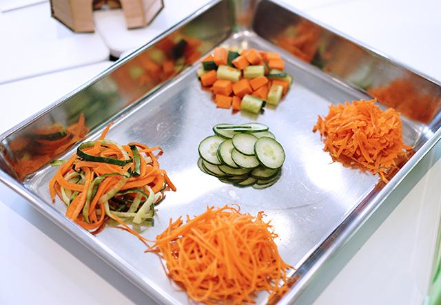 ナイサーダイサーマジックキューブで切った野菜