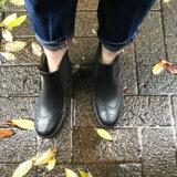 履きやすい!ちょっと辛口なショートレインブーツで雨の日も楽しく