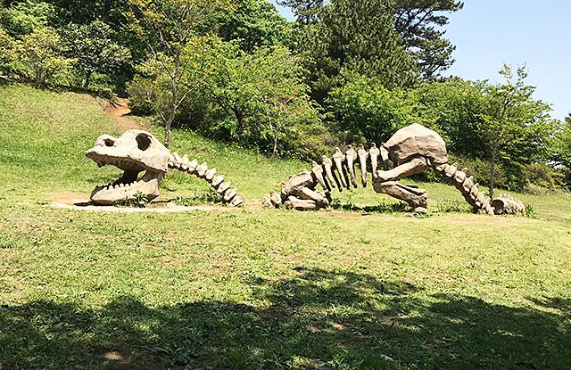小室山公園の恐竜 骨