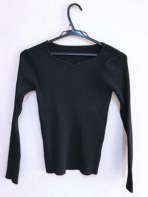 Rcawaiiで届いた服。jayroMOTOMACH SELECTI の黒いカットソー