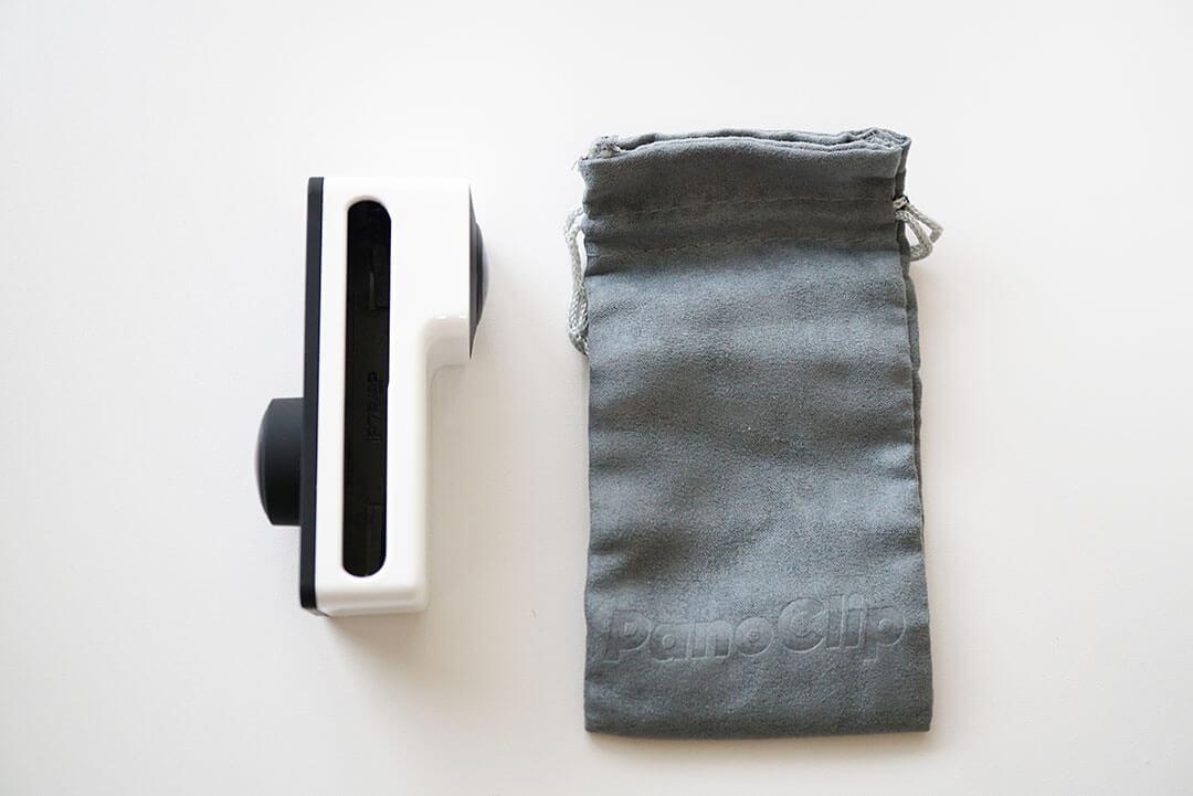 PanoClip本体と袋