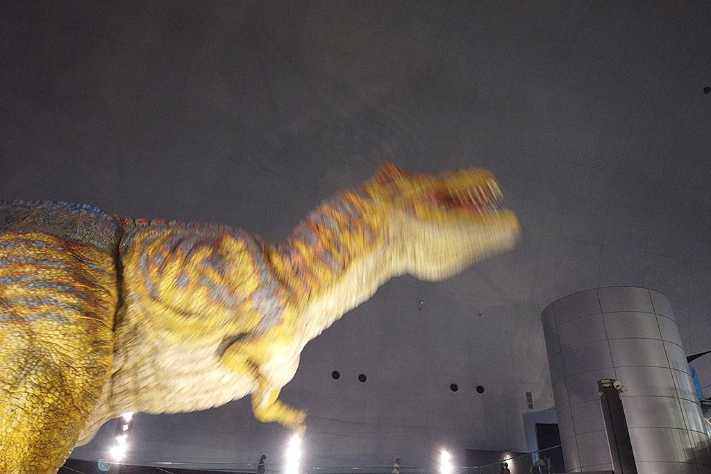 福井県立恐竜博物館の動く恐竜