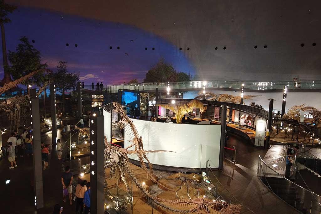 福井県立恐竜博物館の展示