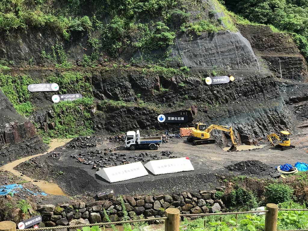 野外恐竜博物館 発掘現場の見学