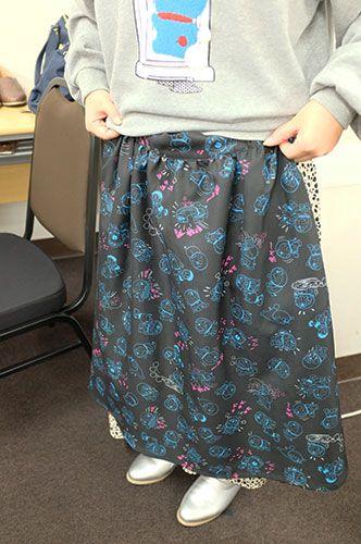 ドラえもん 好きでたまらニャい プリントスカート